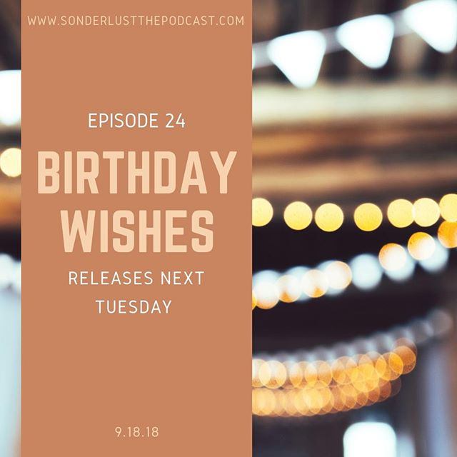 Episode 24 of Sonderlust The Podcast releases NEXT TUESDAY! Sarah shares some reflections on heading into another year and looks back at the Sonderlust challenge as her birthday last year was the catalyst. You'll also get to hear what some of her closest friends and family think the next year holds for her. The wisdom they share may hold inspiration for you! If you haven't listened to last weeks episode yet, be sure to check that out on Apple Podcasts, Stitcher, Google Play or wherever you listen to your podcasts. #Sonderlust #Community #Thankful