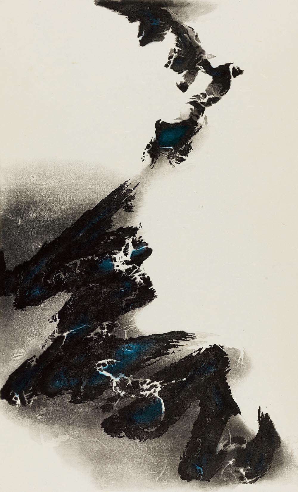 劉國松 LIU Kuo-Sung〈升向白茫茫的未知 Rising toward Mysterious Whiteness〉