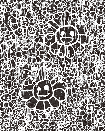 村上隆 Takashi Murakami〈Madsaki Flowers A Black〉