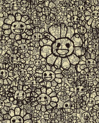 村上隆 Takashi Murakami〈Madsaki Flowers C Beige〉