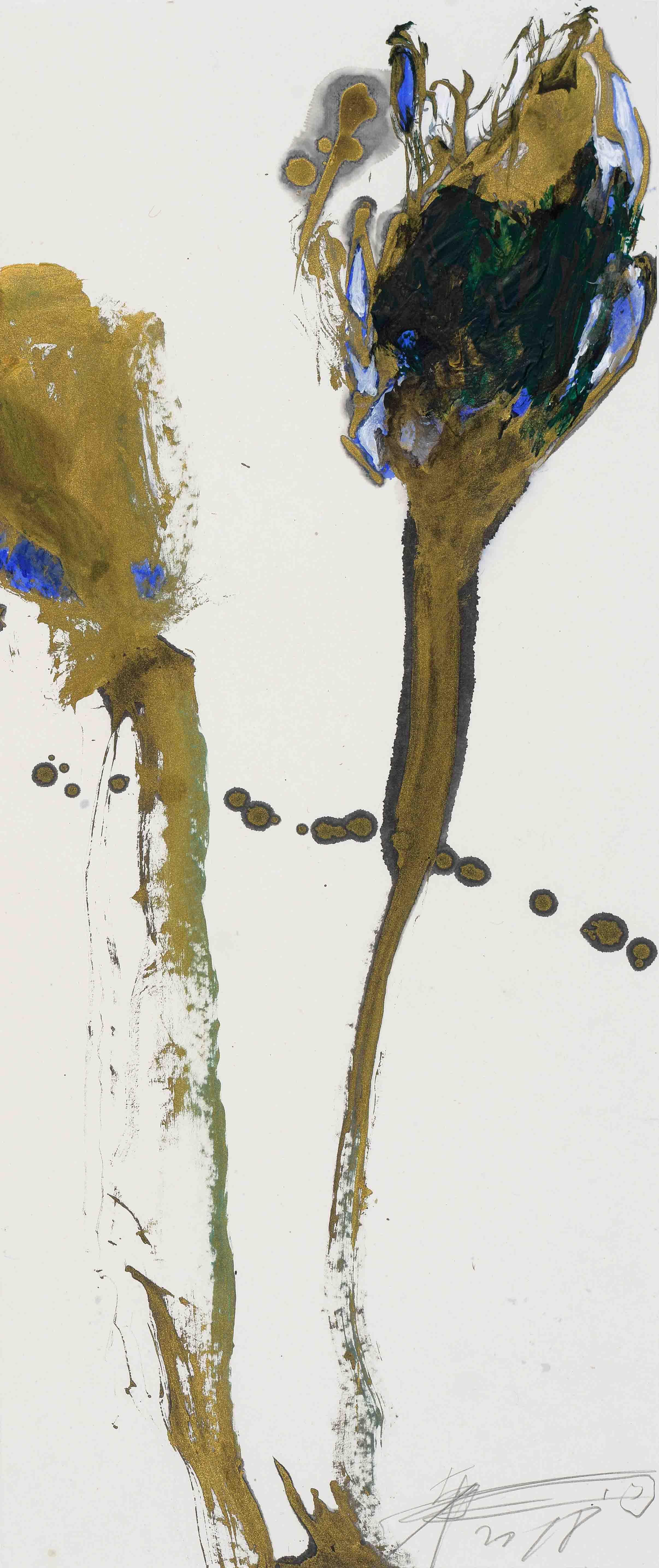 魏立剛 WEI Ligang〈藍金花 Blue and Gold Flowers〉