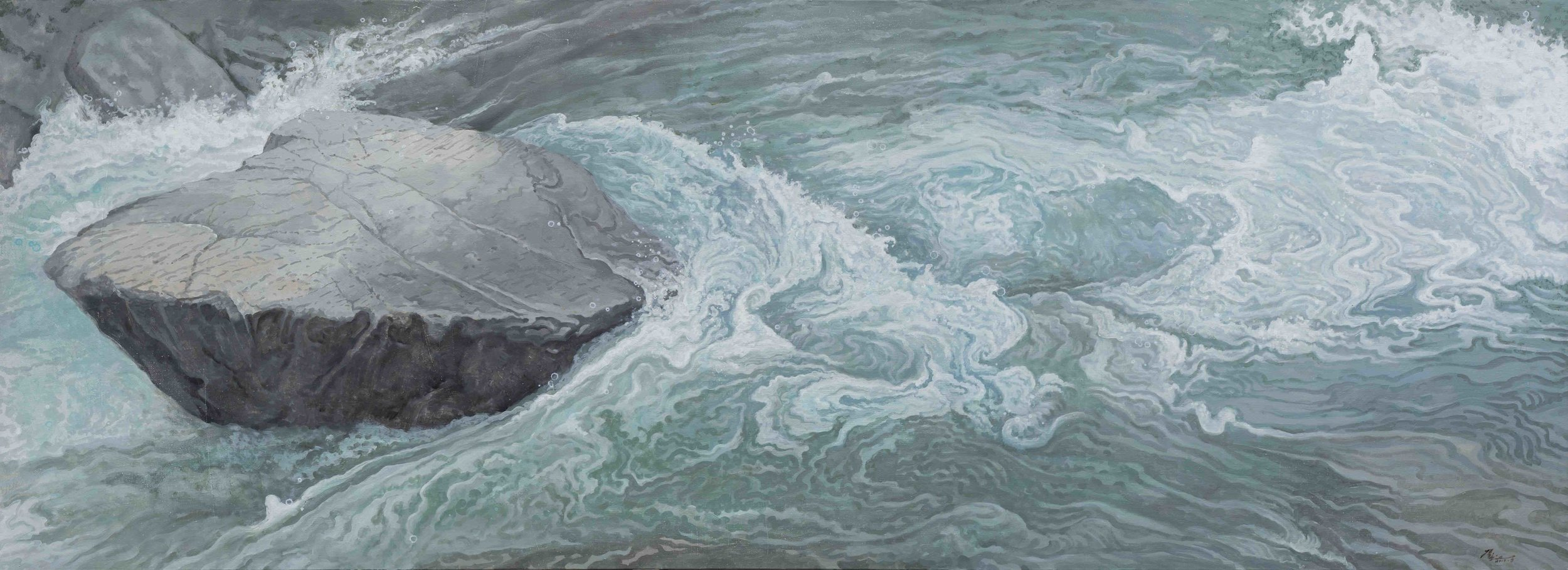 侯俊杰 HOU Junjie〈上善若水·觀瀾 NO.1 The Supreme Good is Like Water-Observing Ripples NO.1〉