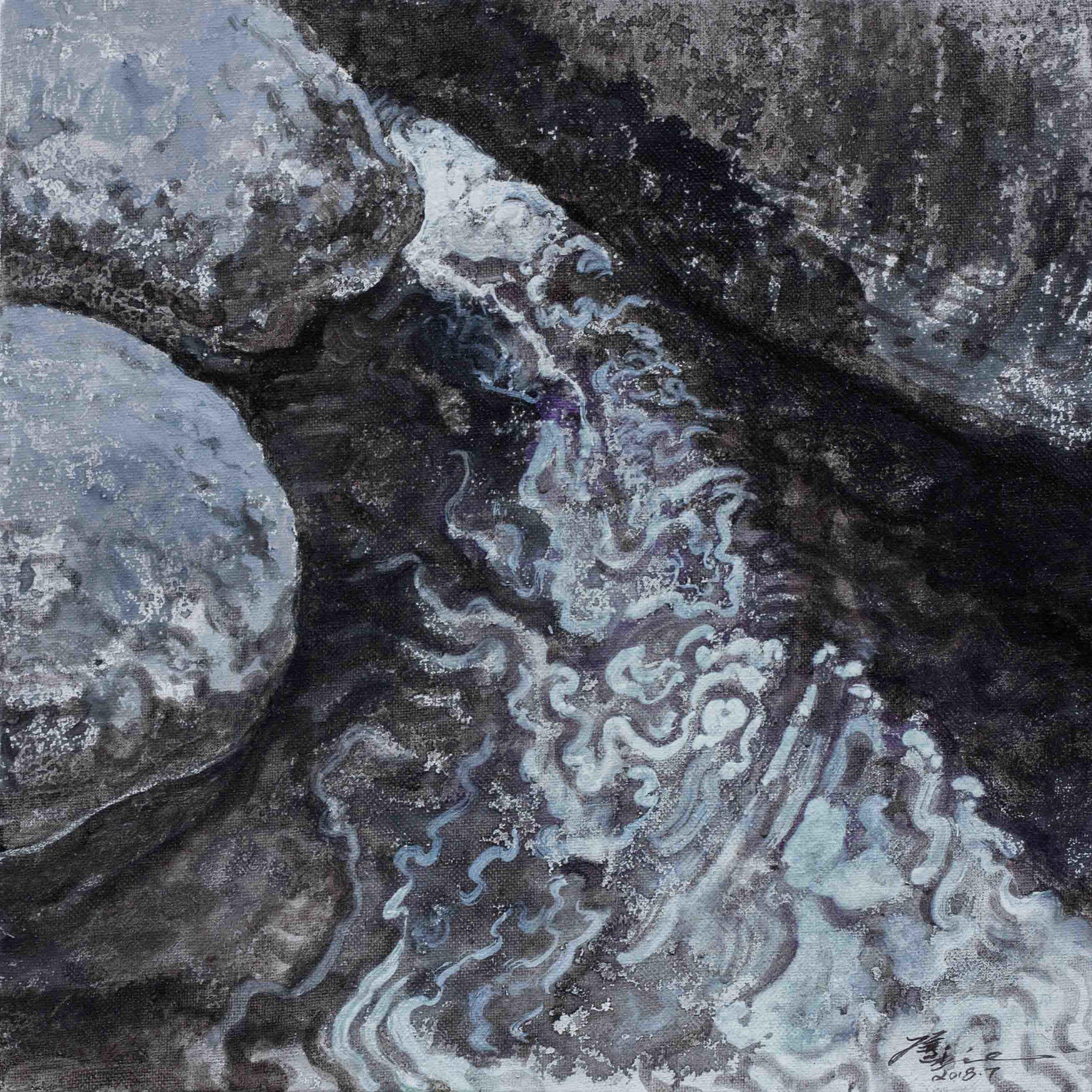 侯俊杰 HOU Junjie〈上善若水·聞水 NO.2 The Supreme Good is Like Water-Hearing the River NO.2〉