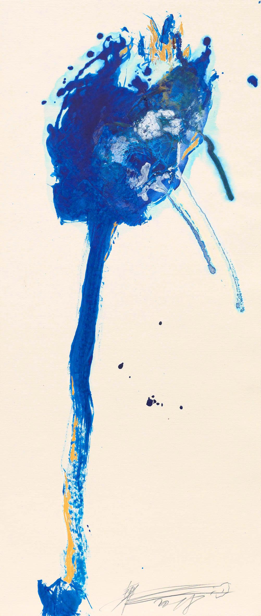 魏立剛 WEI Ligang〈小藍花–A  Little Blue Flower-A〉