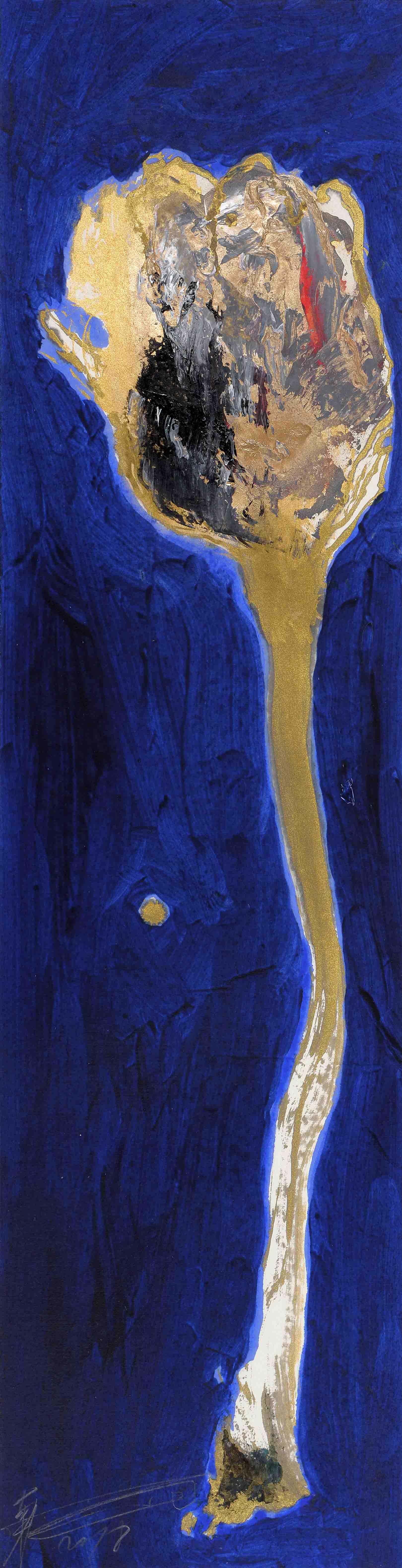 魏立剛 WEI Ligang〈小花–藍Little Flower: Blue〉