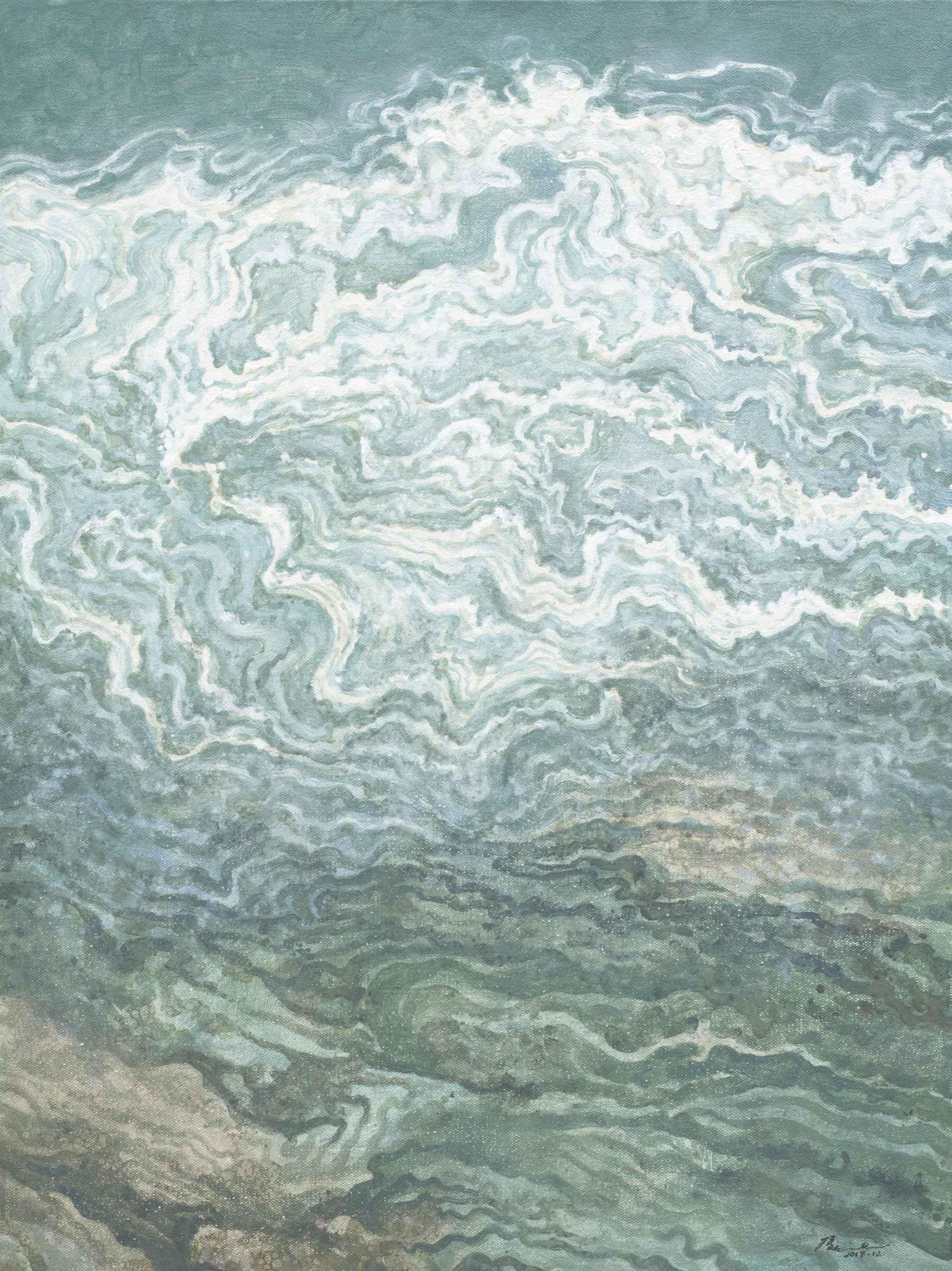 侯俊杰 HOU Junjie〈上善若水·觀瀾 NO.4 The Supreme Good is Like Water-Observing Ripples NO.4〉