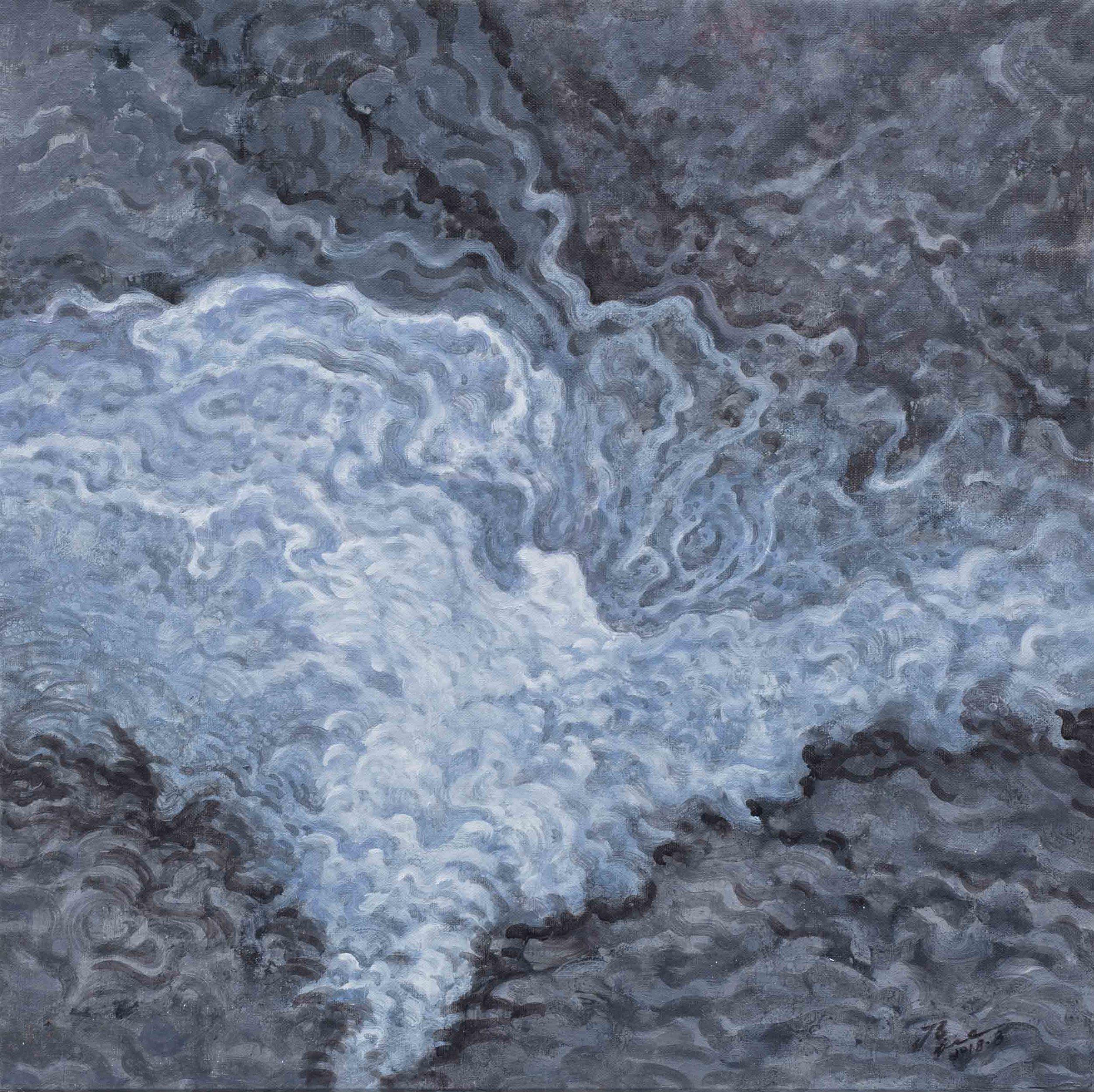 侯俊杰 HOU Junjie〈上善若水·觀瀾 NO.6 The Supreme Good is Like Water-Observing Ripples NO.6〉