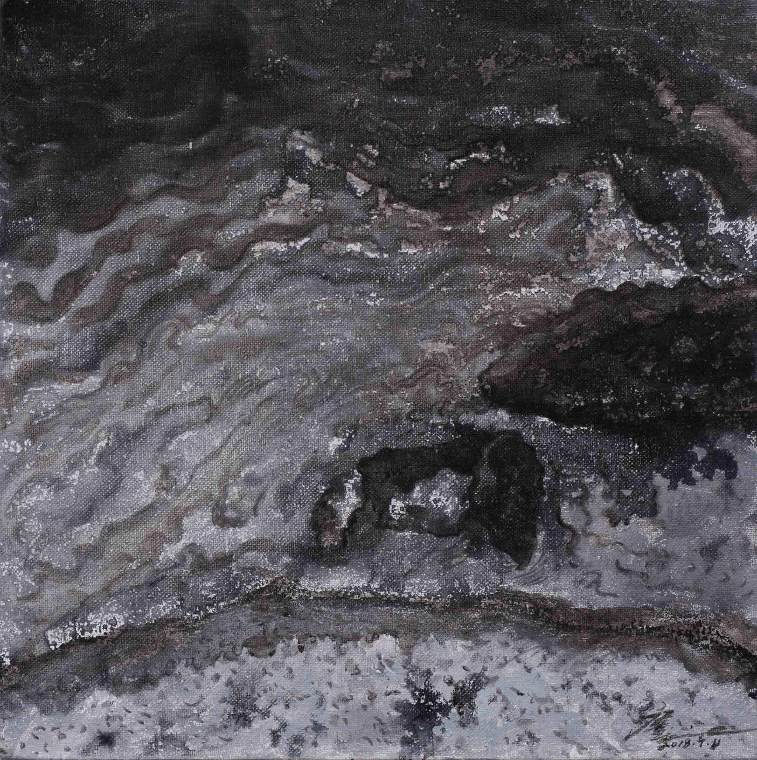 侯俊杰 HOU Junjie〈上善若水·聞水NO.4 The Supreme Good is Like Water-Hearing the River NO.4〉