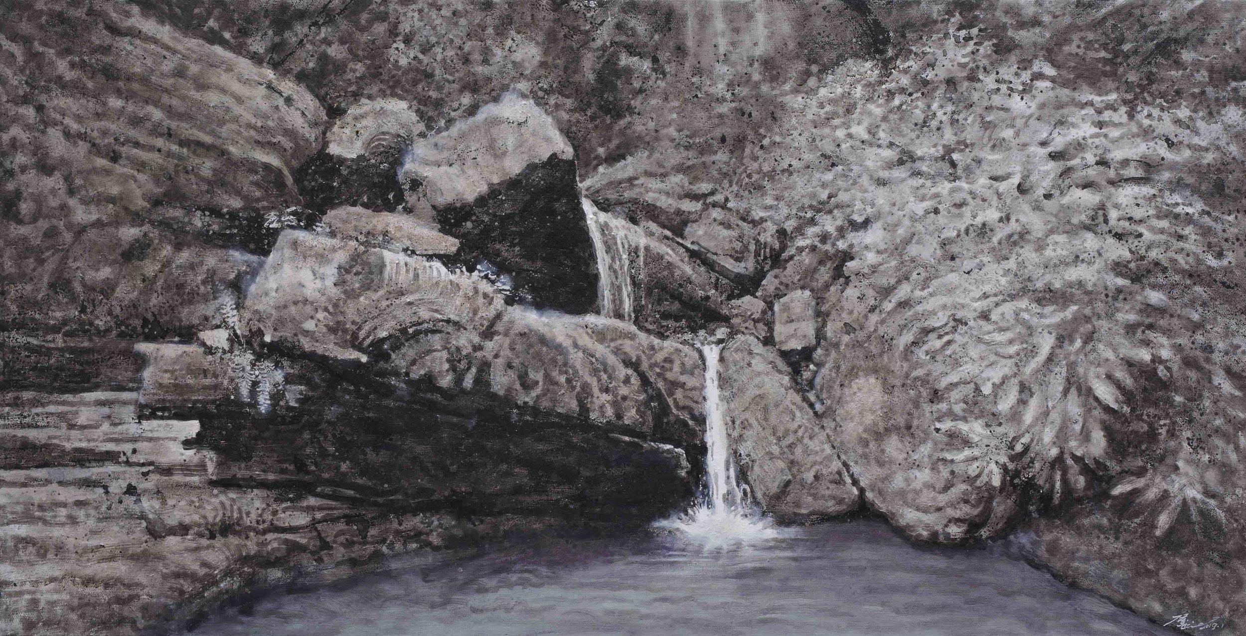 侯俊杰 HOU Junjie〈上善若水·聽泉NO.3 The Supreme Good is Like Water-Listening to the Spring NO.3〉