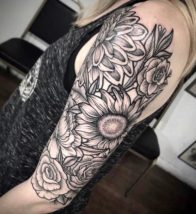 morgan gatekeeper floral arm tattoo scottsdale.jpg