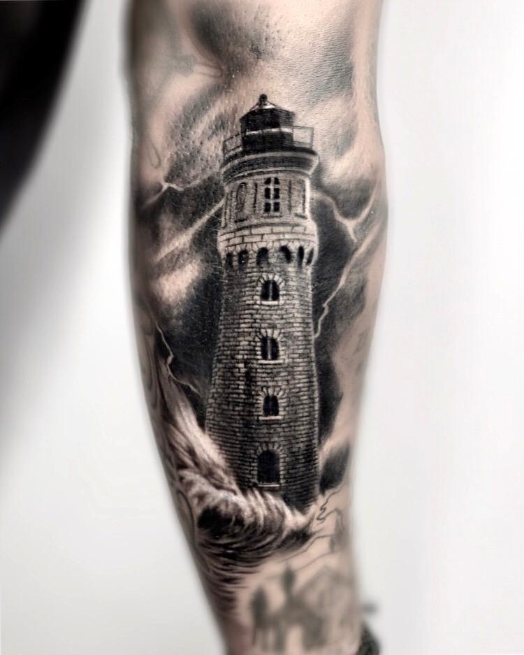 devin bennett arizona tattoo artist lighthouse.JPG