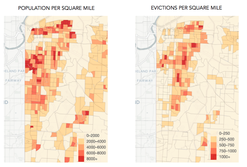 Evictions have been spatially concentrated in the city's poorest neighborhoods—but their impact is spreading to other parts of town, consistent with development trends.