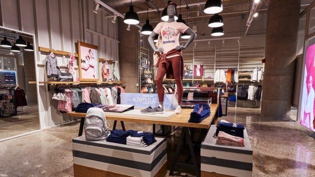 Reebok Dry Dock Store Boston Interior Display