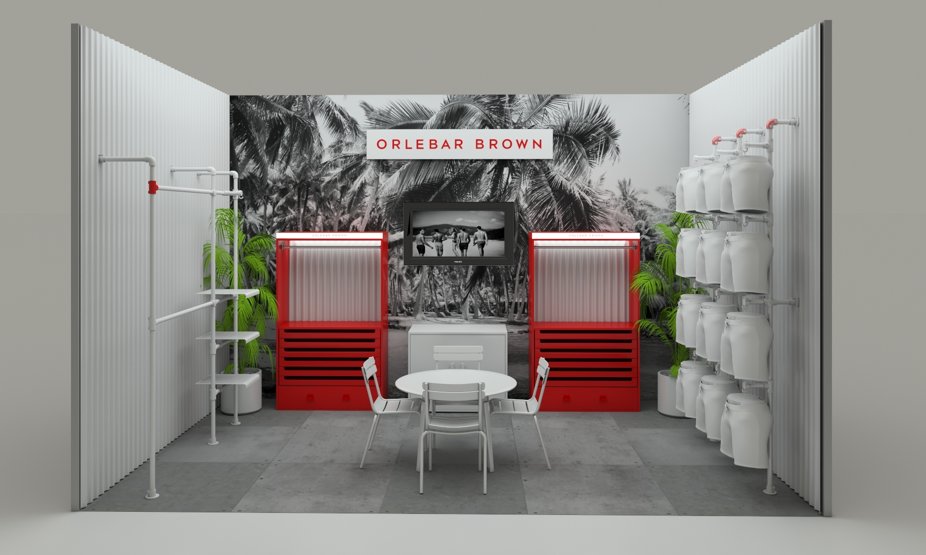 Orlebar Brown - Trade show stand