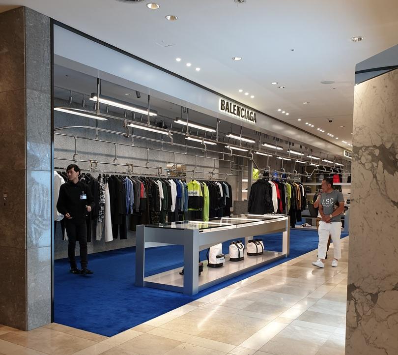 Premium industrial style fixtures at  Balenciaga