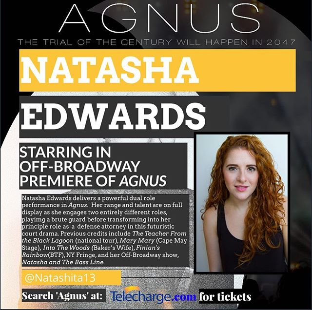 ARTIST SPOTLIGHT • • • NATASHA EDWARDS (GUARD 1/ATTORNEY 2) is ecstatic to be joining this stellar team! BFA Musical Theatre, Emerson College. Previous credits include The Teacher From the Black Lagoon (national tour), Mary Mary (Cape May Stage), Into The Woods (Baker's Wife), Finian's Rainbow (BTF), NY Fringe, and her Off-Broadway show, Natasha and The Bass Line. Thanks to Ise for his trust in me, Meg/Katie for their faith in me, James/Mum/Dad for always believing in me, and Rob for all his love and support. Meg Pantera, the Agency. www.NatashaEdwards.net