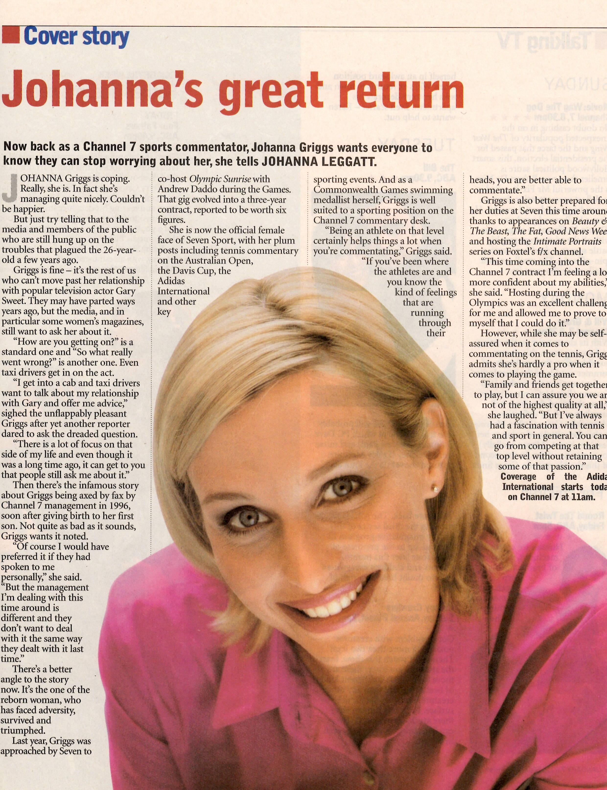 1999 | MU by Rachel on Joanna Griggs (TV Presenter)