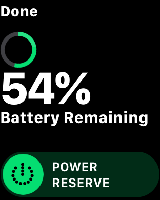 My battery at 21:45 after wearing the Apple Watch series 3 LTE since 7:30am and doing 90mins on the turbo at lunch