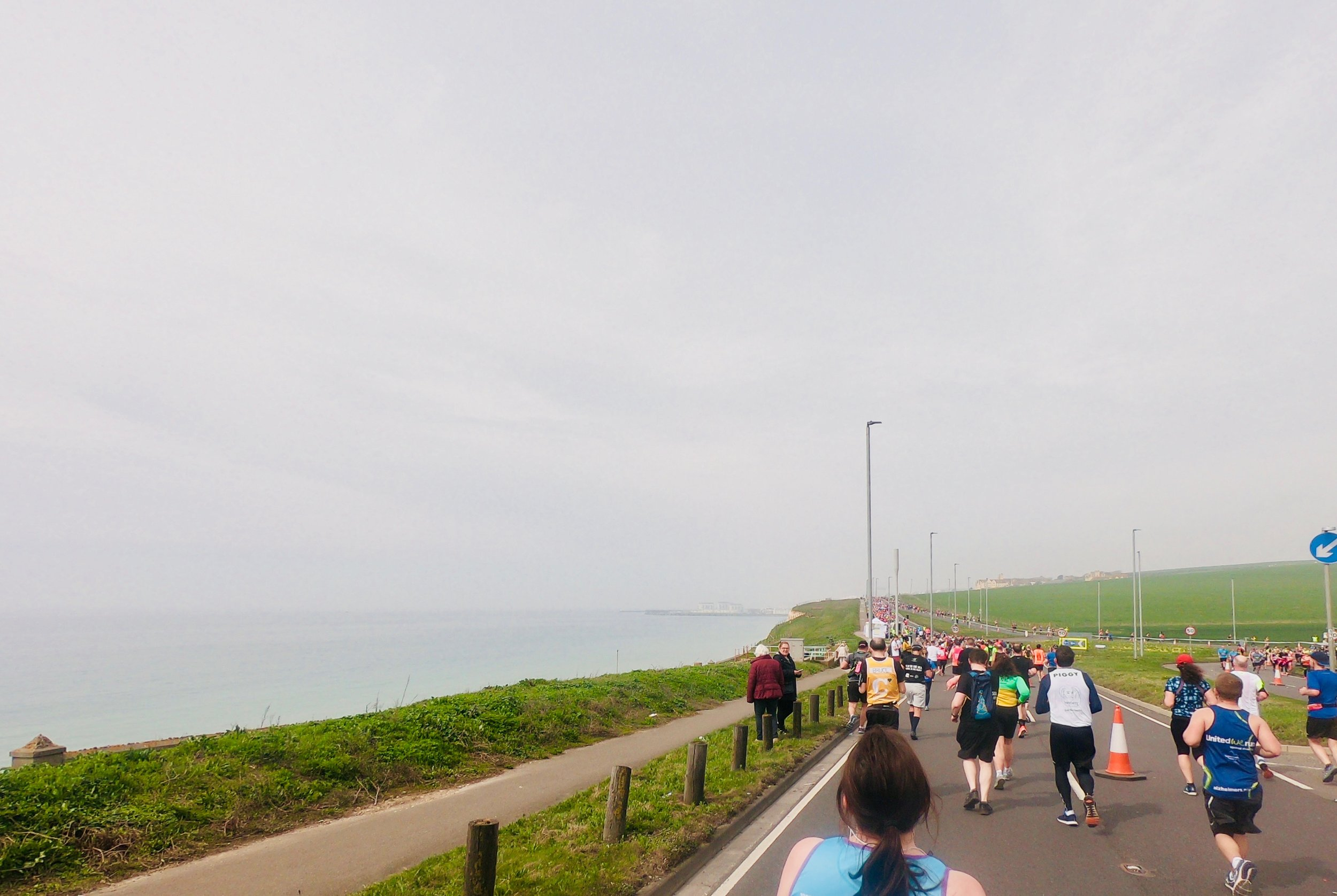 Lovely running along the coast with great views for a large part of the course.