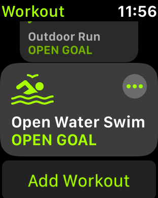 And just have run and swim in the list