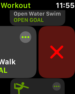 Delete a workout in watchOS 6