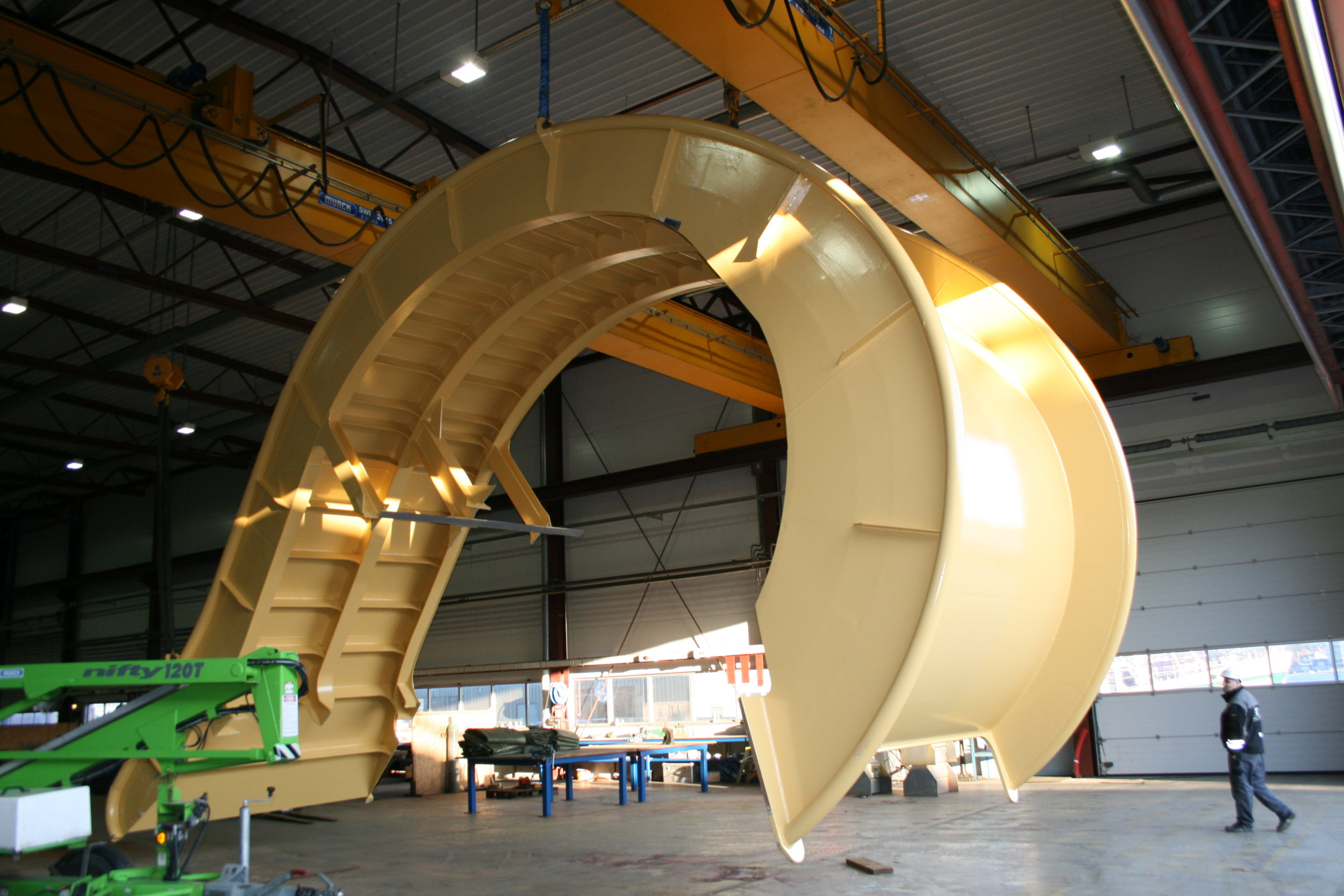 Cabel chute ready for delivery