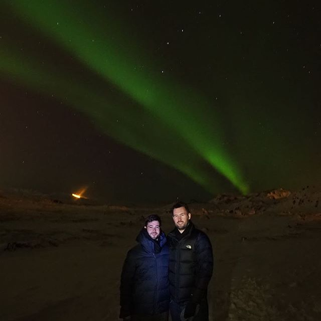 The northern lights are pretty and so is @jsjohnstone