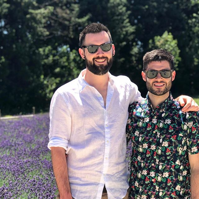 Flashback a few weeks to cooler weather, prettier surroundings and a wedding. 💐 🌞 👬