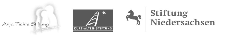Mit freundlicher Unterstützung durch die Anja Fichte Stiftung, die Kurt-Alten-Stiftung und die Stiftung Niedersachsen.
