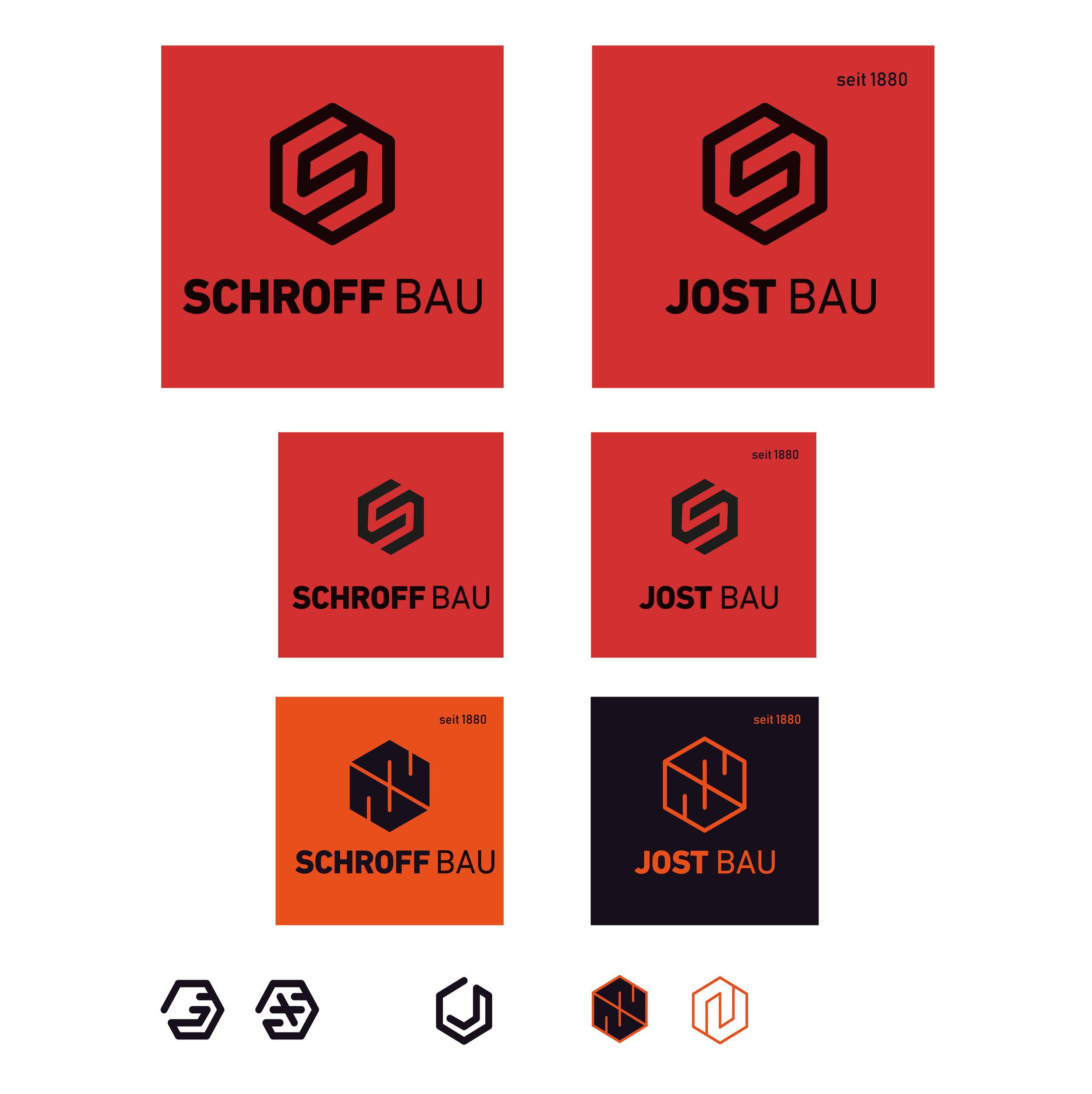Entwicklung der Idee zur Bildmarke und Logovarianten