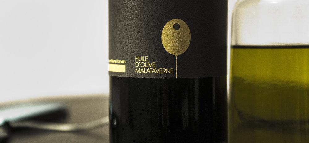 Illustration für Etikette Olivenöl