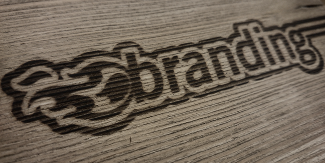 Visual branding Eigenwerbung