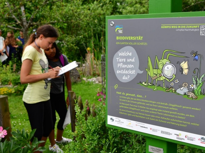 Lehrpfad Thal - Projektkoordinatorin:Jeanine Riesen, Weit & Breitsicht GmbHGestaltung:Christian Jaberg, jaberg.designIllustration:Claude MüllerInfo