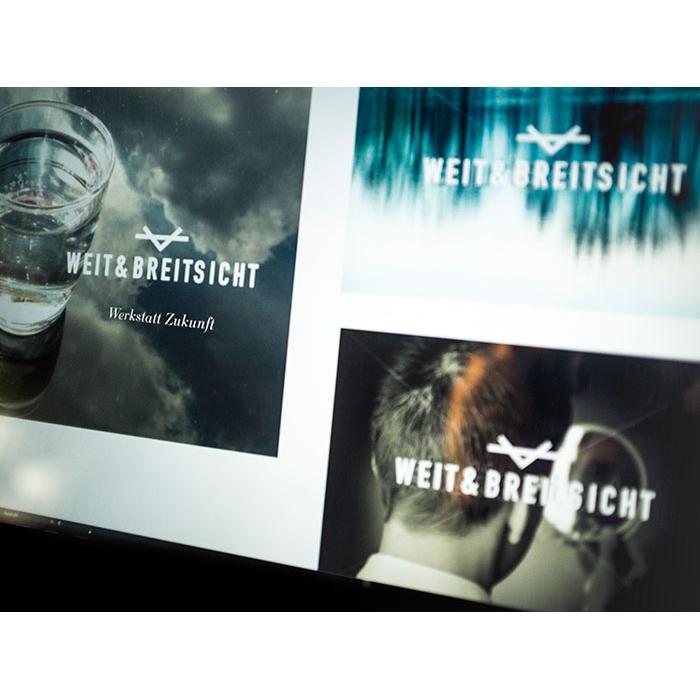 WEIT & BREITSICHT - Auftraggeber:Patrick Bussmann, Weit & Breitsicht GmbHLogo Design, Beschriftungen, Gestaltung Korrespondenzdrucksachen:Christian Jaberg, jaberg.design