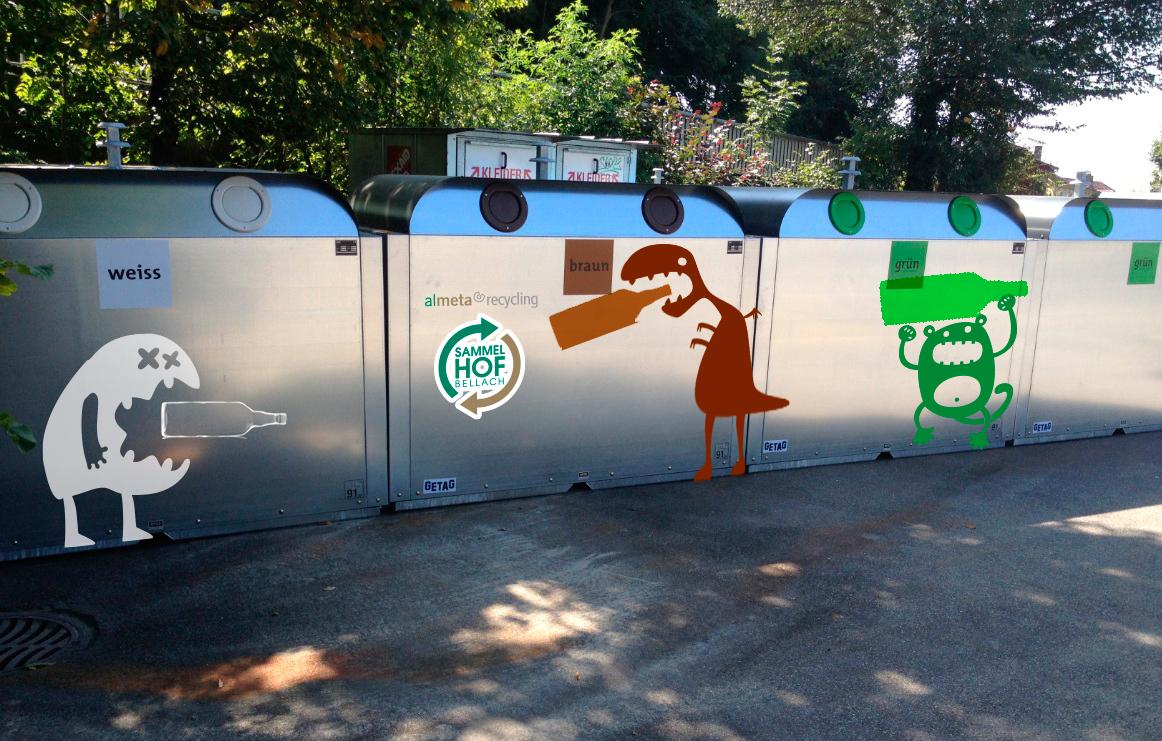 Kommunal-Recycling - Auftraggeber:Almeta Recycling AGPrototypische Gestaltung:Christian Jaberg, jaberg.design