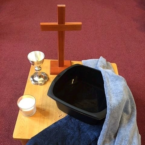 Tonight we celebrated Jesus' last supper with his disciples, where he washed their feet and broke bread and shared wine with them. Join us tomorrow as we look to the cross and Jesus' crucifixion for Good Friday...