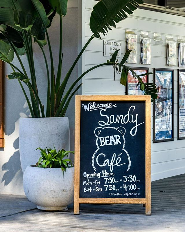 There's always time for coffee at The Sandy Bear. Come and join us, we're open daily from 7.30am 🐻