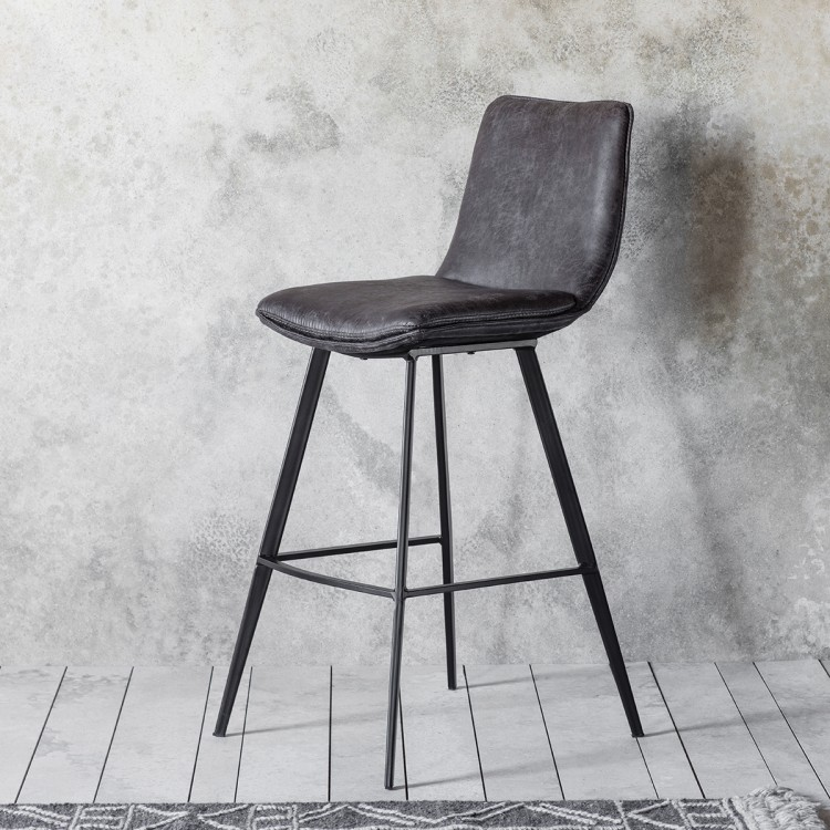 Bowery Bar Stool - W42 x D60 x H106cmRRP per stool €370Please not sold in pairsFor enquiries please call us today on +353 1 2948020 or email info@interiorsatelier.ie