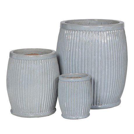 Ribbed Ceramic Planters - Large RRP €270Medium RRP €140Small €80For enquiries please call us today on +353 1 4534742 or email info@interiorsatelier.ie