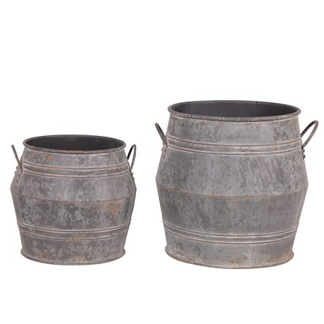 Large Metal Buckets - RRP €240For enquiries please call us today on +353 1 4534742 or email info@interiorsatelier.ie