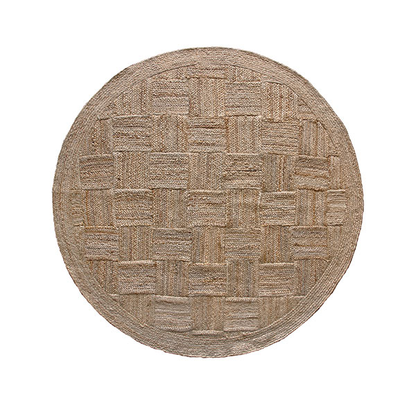 Jute Patchwork Rug - Dia 200cmRRP €270For enquiries please call us today on +353 1 4534742 or email info@interiorsatelier.ie