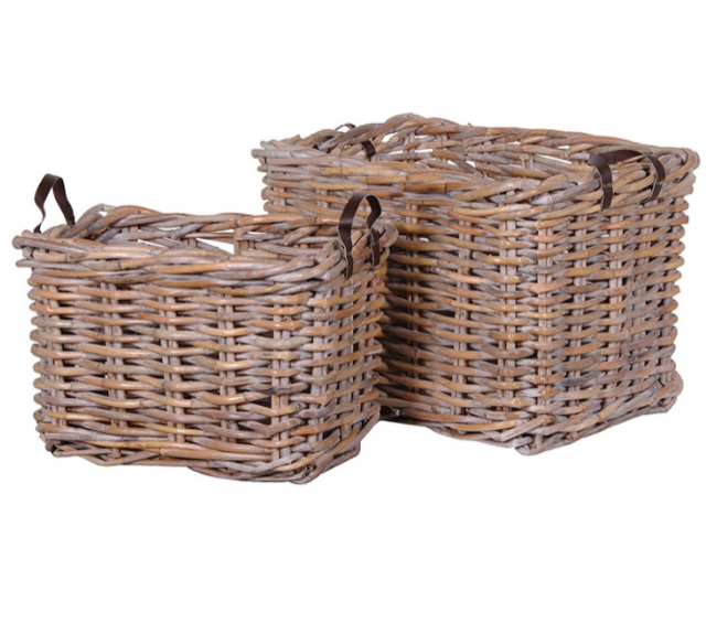 Two Large Rectangular Rattan Baskets - Large Basket: H560 W:840 D600mmSmall Basket: H460 W:680 D440mmSet RRP €480FFor enquiries please call us today on +353 1 4534742 or email info@interiorsatelier.ie