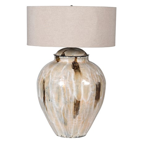 San Tropez Lamp - Coffee enamel lamp with shadeRRP €360For enquiries please call us today on +353 1 4534742 or email info@interiorsatelier.ie