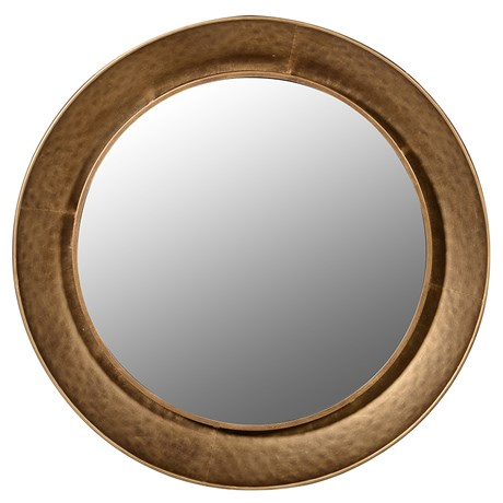 Foster Mirror - Gold hammered rim mirrorDia 880mmRRP €185For enquiries please call us today on +353 1 4534742 or email info@interiorsatelier.ie