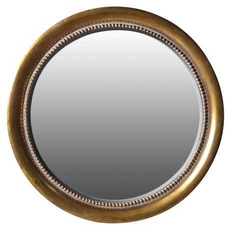 Finsbury Mirror - Round gold wall mirrorDia 1140mmRRP €870For enquiries please call us today on +353 1 4534742 or email info@interiorsatelier.ie