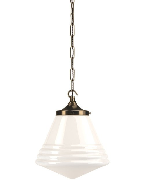 Newgate Pendant - Retro style cafe lampChain pendant H307 xW256mmFor enquiries please call us today on +353 1 4534742 or email info@interiorsatelier.ie