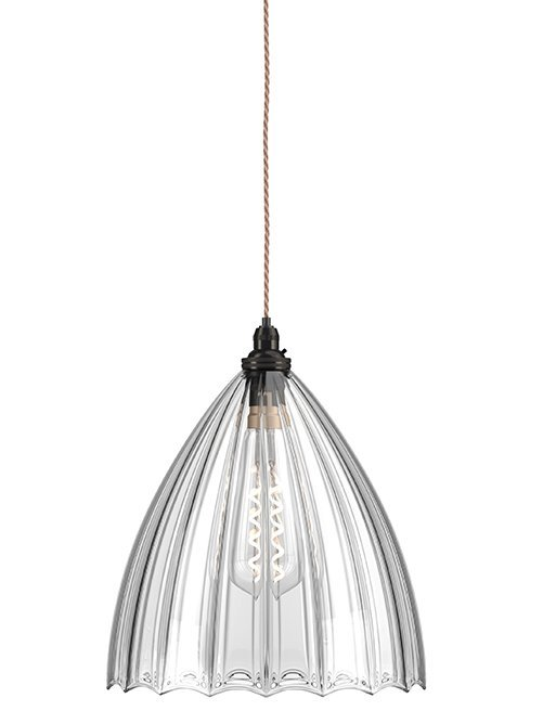Antoinette Pendant - Ribbed pendant lightSizes M:W140 xH170, L:W200 x H230, XL:W250 x H280mm.RRP €420For enquiries please call us today on +353 1 4534742 or email info@interiorsatelier.ie