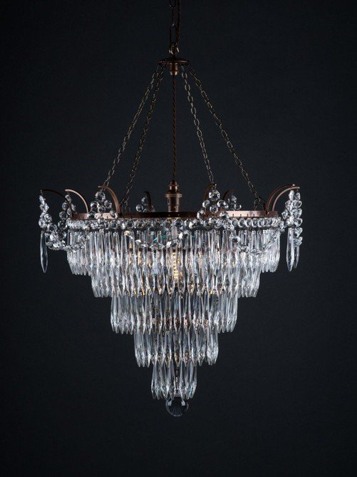 Thornton Chandelier - Crystal chandelierSize options: 3 tier, 4 tier, 5 tierRRP €1400For enquiries please call us today on +353 1 4534742 or email info@interiorsatelier.ie