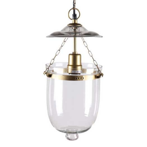 Byron Pendant Light - Brass and glass bell jar lightH28 x W18 x D18 cmRRP €240For enquiries please call us today on +353 1 4534742 or email info@interiorsatelier.ie