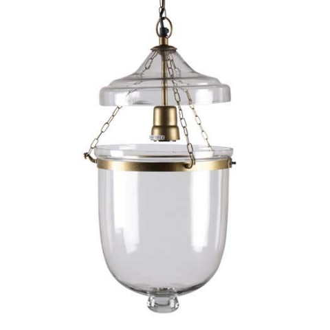Bates Pendant Light - Brass and glass bell jar ceiling lightH36 x W23 x D23 cmRRP €290For enquiries please call us today on +353 1 4534742 or email info@interiorsatelier.ie